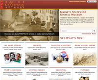 Maine Memory Network homepage