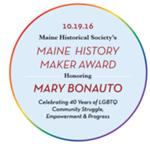 Maine History Maker Award Honoring Mary Bonauto