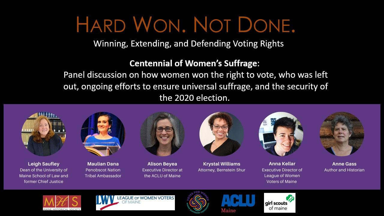 HARD WON. NOT DONE: Winning, Extending, and Defending Voting Rights
